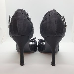 Delicious Shoes - Lace Bow Black Heels